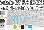teclado bluetooth iclever y adaptador bluetooth 4.0 avantree princi