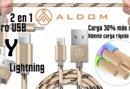 Aldom cable microusb y Iphone princi