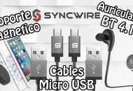 Syncwire auriculares bt, iman, cables usb princi