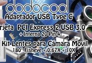 Dodocool Lentes + Adaptador Type C + PCI USB 3.0 princi