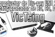 VicTsinc Grabadora Blu-Ray Exterma USB princi