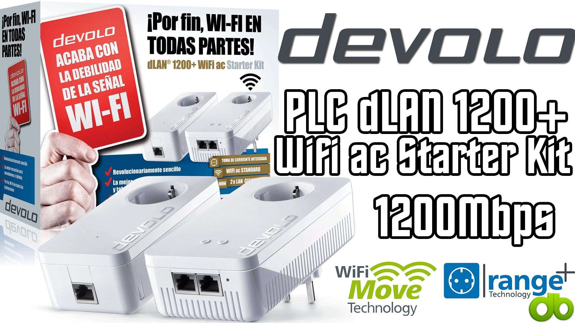plc devolo dlan 1200 wifi ac starter kit powerline. Black Bedroom Furniture Sets. Home Design Ideas