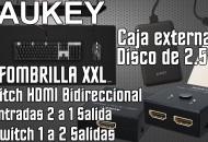 AUKEY Switch HDMI Alfombrilla y Carcasa Externa USB 3.0 princi