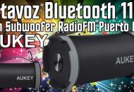 Altavoz Bluetooth 11W AUKEY Subwoofer princi