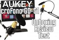 Micrófono con soporte mesa Aukey GD-G1 princi
