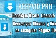 Keepvid Pro Ganar licencia gratis con facebook princi