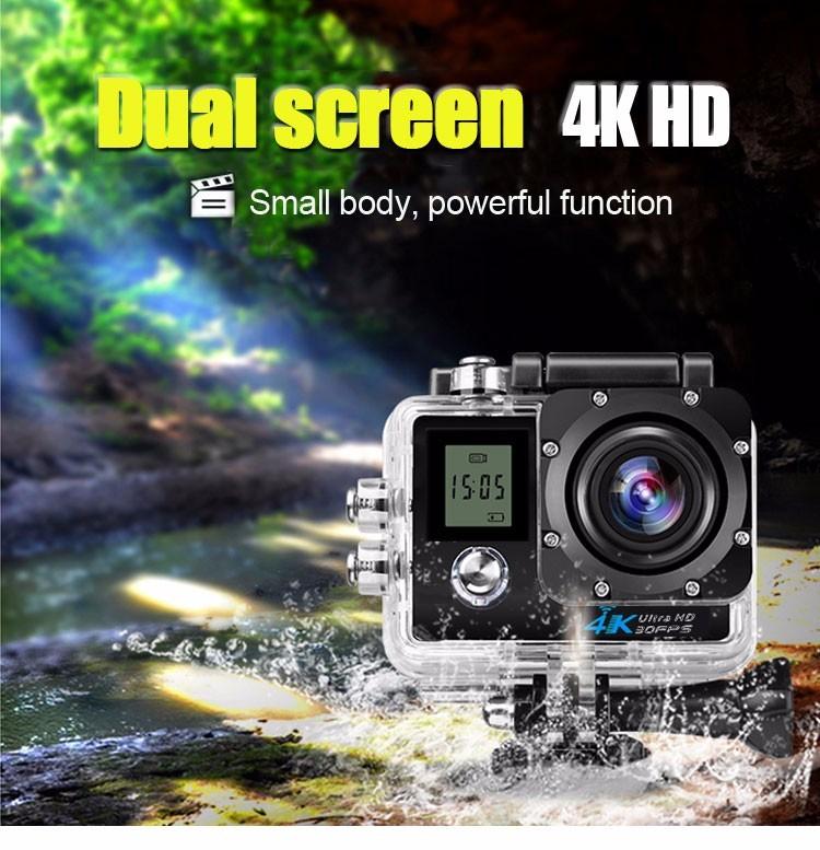 SportCam XANES K1 4K 30fps 1080p 60fps WiFi Unboxing Review y Test