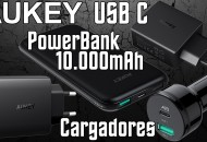 Aukey usb C Powerbank 10.000mah Cargadores Enchufe y Mechero Princi