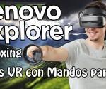 Lenovo Explorer Gafas VR 1 Unboxing princi