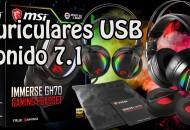 MSI Immerse GH70 Auriculares USB 7.1 princi